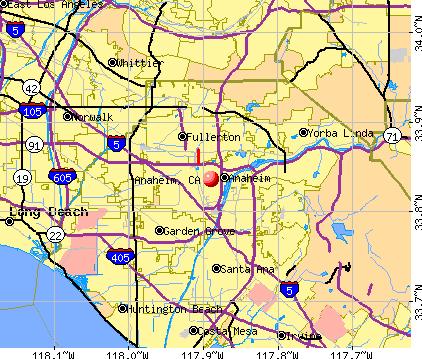 photograph regarding Printable Map of Orange County Ca named Totally free Printable Maps: Vacation spot Map Anaheim California PrintFree