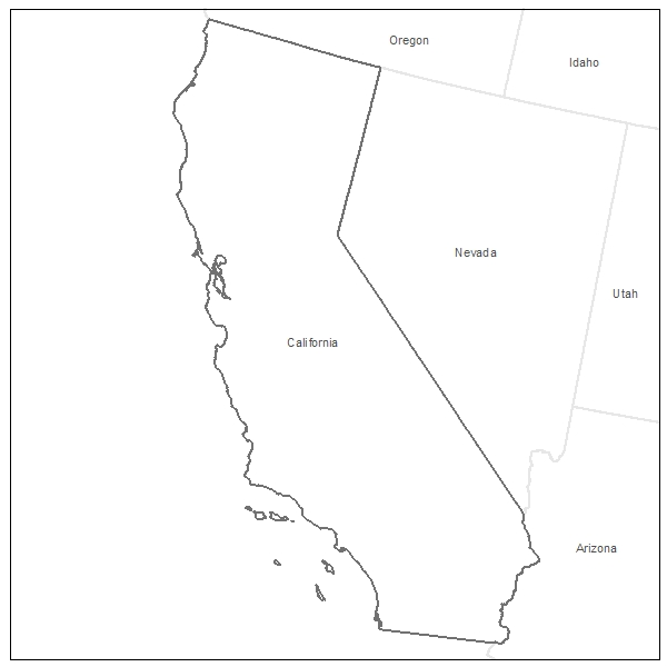 Printable State Of California Coloring Page