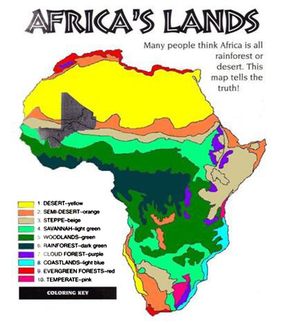 Free Printable Maps Map Of Climate Of Africa PrintFree - Africa desert map