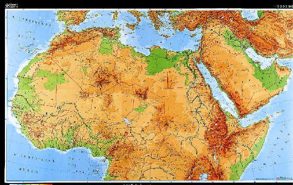 Free Printable Maps: Physical Map Of North Africa | PrintFree
