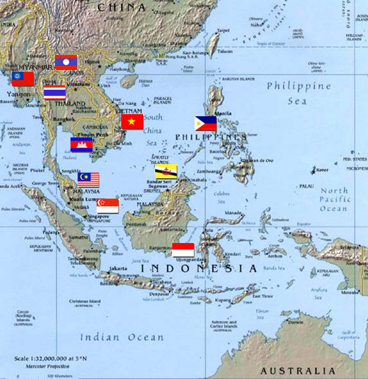 picture regarding Printable Map of Southeast Asia identified as Totally free Printable Maps: Political Map Of Southeast Asia PrintFree
