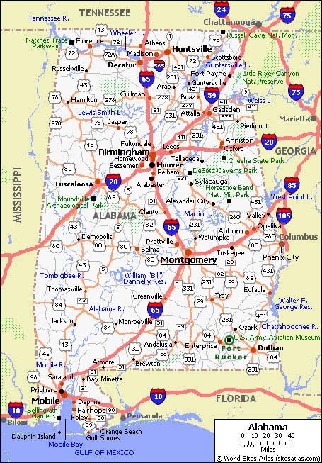 Alabama State Map Free Missouri Map - Alabama state map