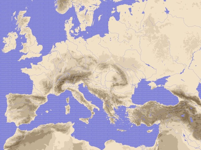 Eastern Europe Blank Physical Map images