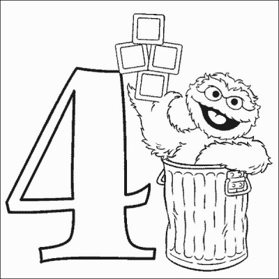 Oscar Number 4 Coloring Pages
