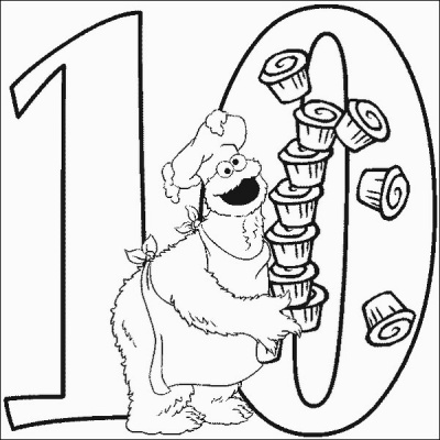 Cookie Number 10 Coloring Pages