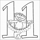 Zoe Number 11 Coloring Pages