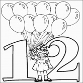 Prairie Number 12 Coloring Pages