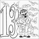 Count Number 13 Coloring Pages