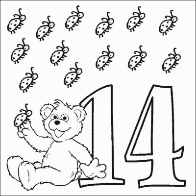 Babybear Number 14 Coloring Pages