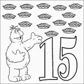 Telly Number 15 Coloring Pages