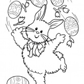 Easter Rabbit Colorig Pages