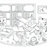 Tiger Explore Coloring Pages