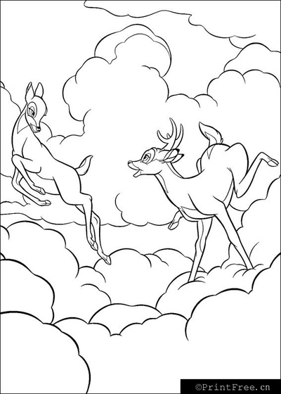 Tom and Jerry 2 - Little Deers Coloring Pages