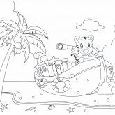 Island Adventure Coloring Pages