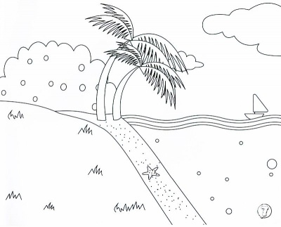 Tiger Beach Coloring Pages