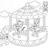Grand Carousel Coloring Pages