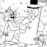Tom and Jerry Snow Man Coloring page 18