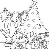Tom and Jerry Coloring Page 24