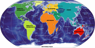 Printable Map of the 7 Continents
