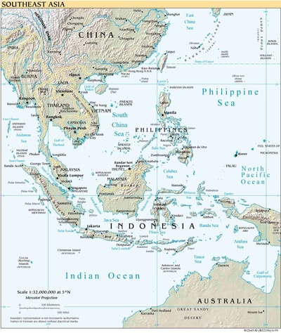 Printable Map of Southeast Asia